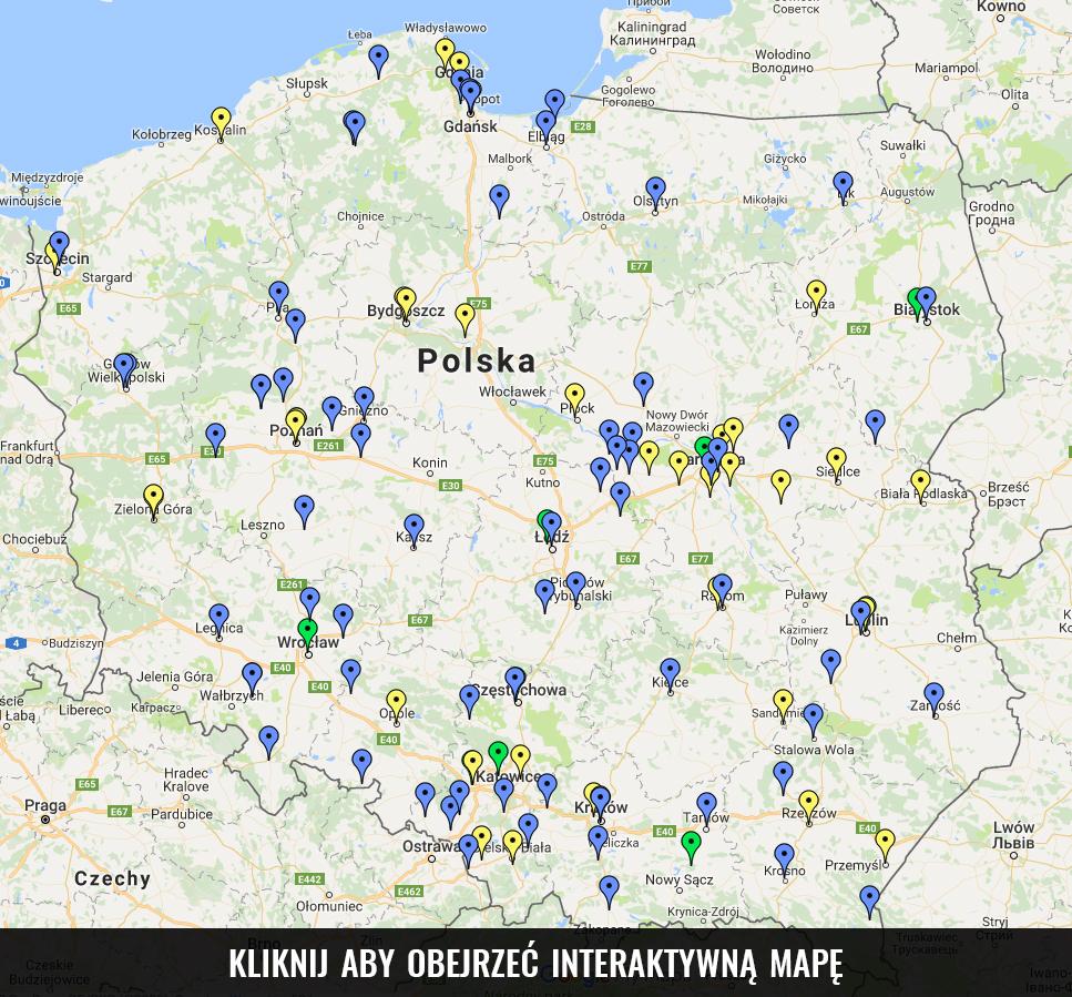 mapa mszy trydenckiej w polsce